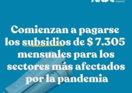 Comienza pago de subsidios